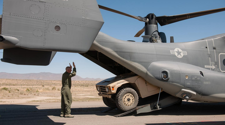 The Phantom Badger is designed to fit in a V-22 osprey
