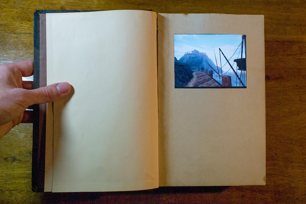 The real-life Myst linking book features a touchscreen allowing gamers to play all the Cyan titles
