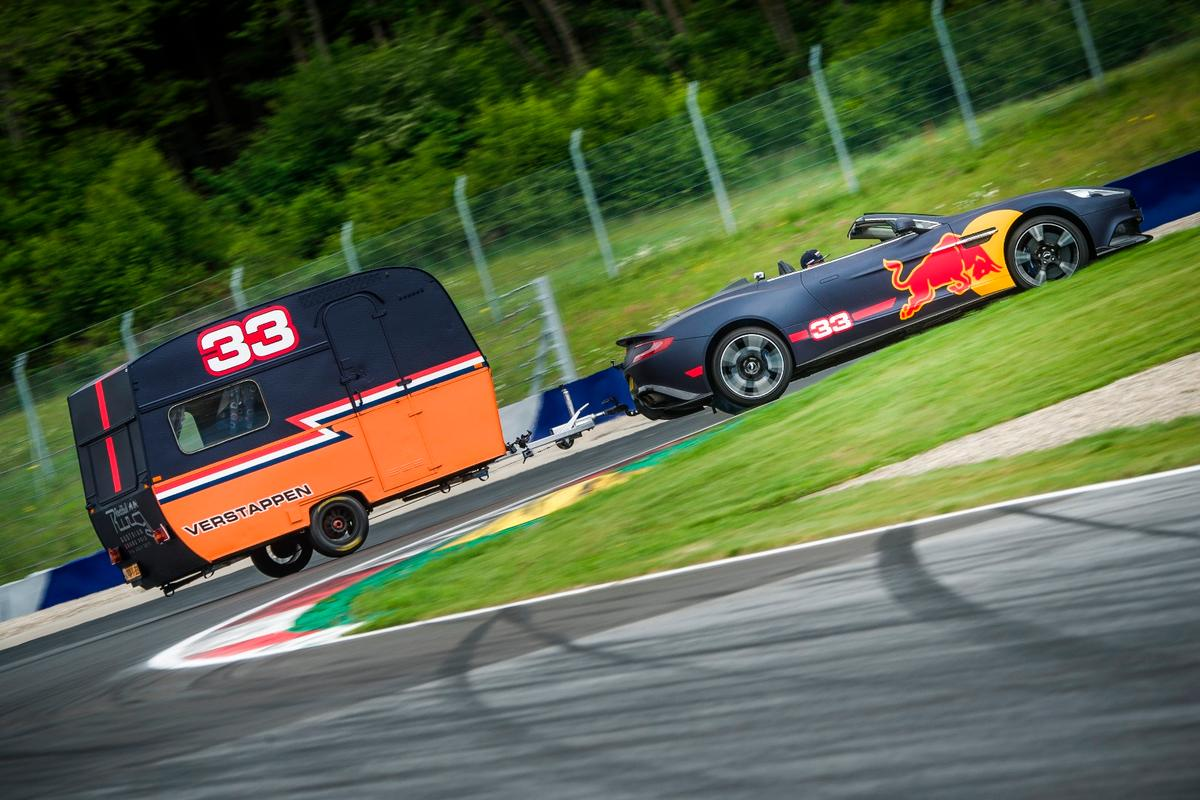 Verstappen takes a corner
