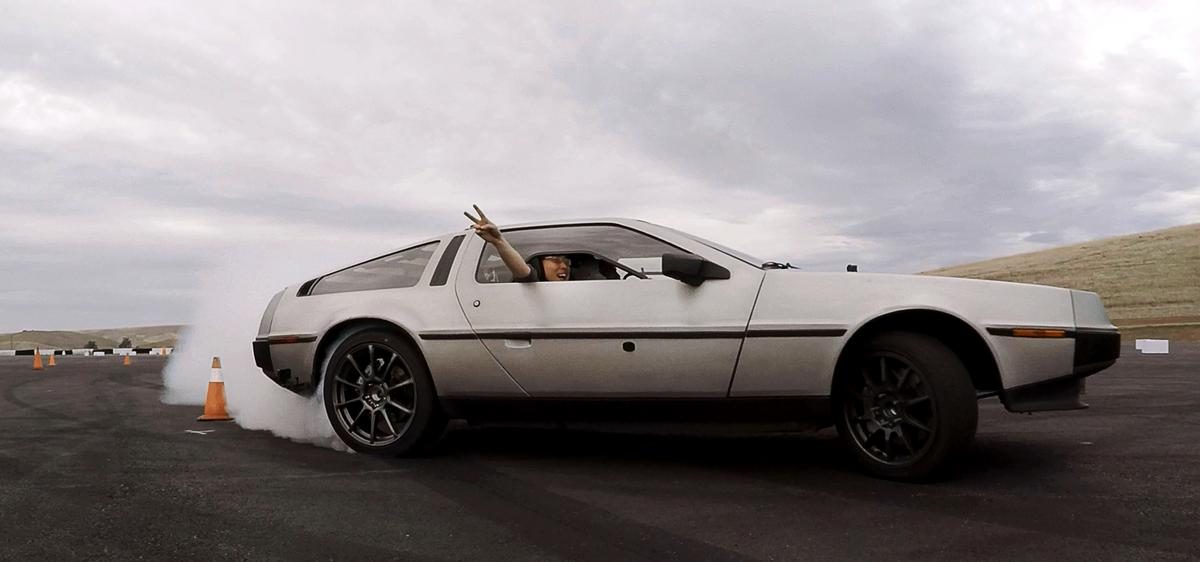 Stanford's self-driving DeLorean goes by the name of Marty (Multiple Actuator Research Test bed for Yaw)