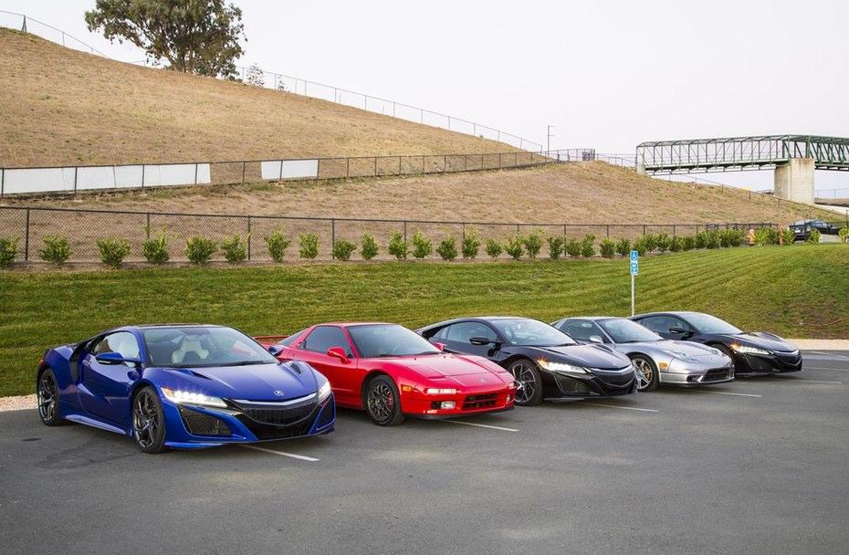 Generations of the Acura NSX