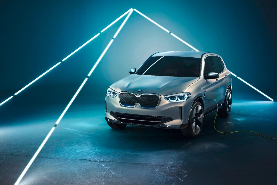 The BMW Concept iX3 is a new-generation iteration of the larger X5 xDrive40e iPerformance model