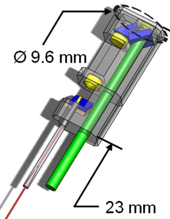 A diagram of the laser scalpel's optical system (Image: Ben-Yakar Group, University of Texas at Austin)