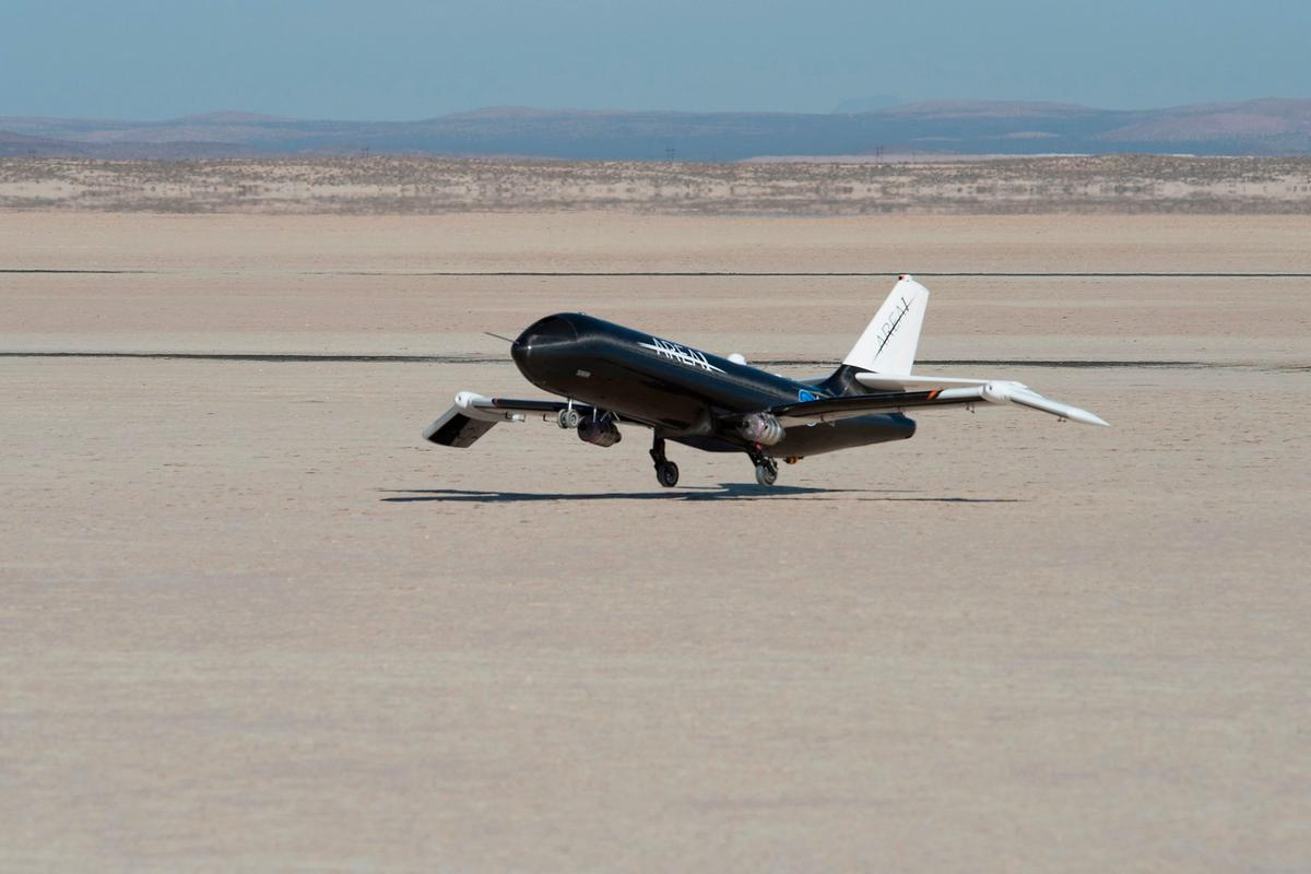 NASA used a remotely-controlled flight testbed called Prototype Technology-Evaluation Research Aircraft, or PTERA, to test the shape memory alloy