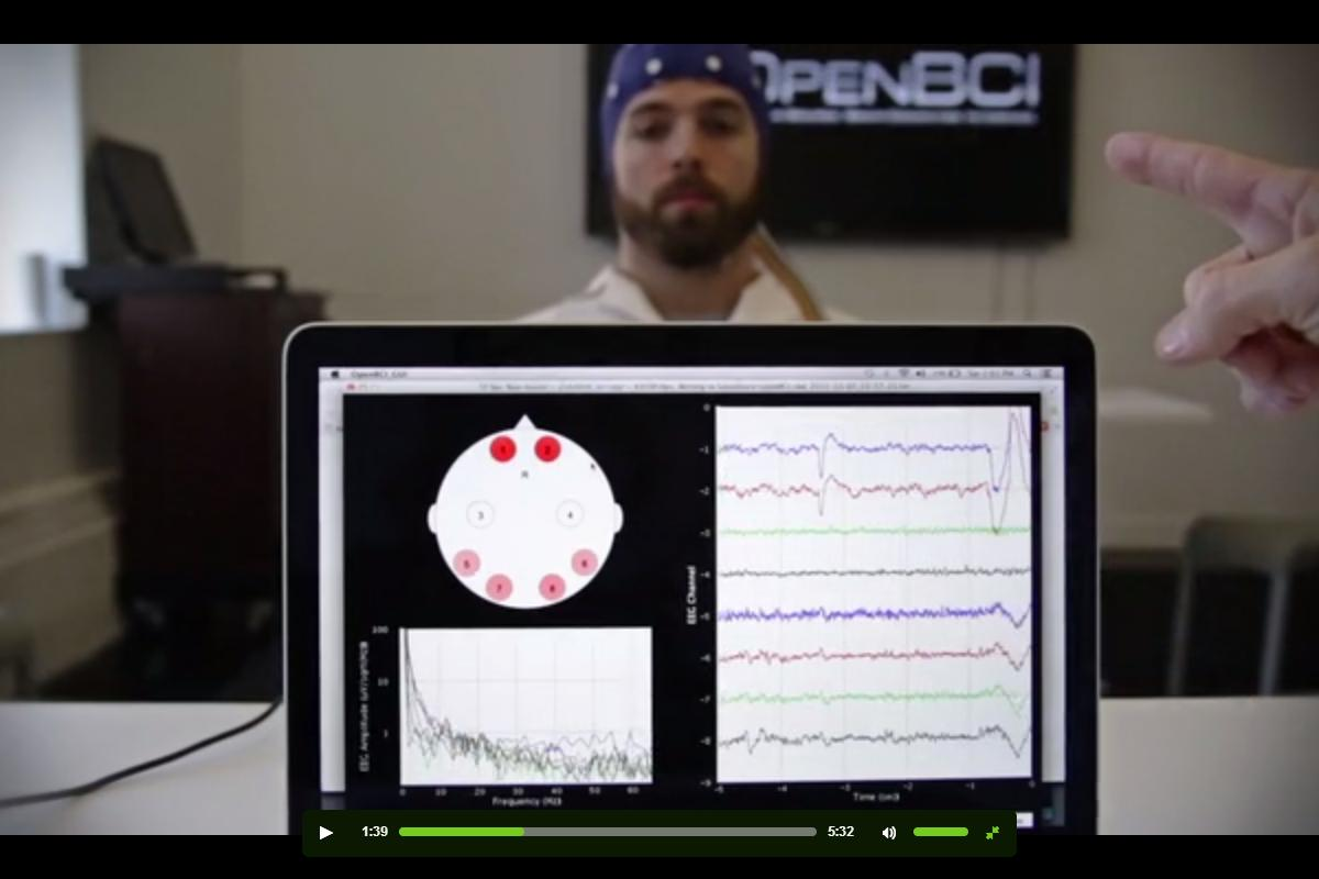 OpenBCI is a platform to link mind and machine through barrier-free EEG recording