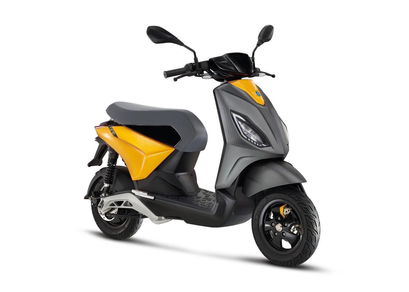 """Piaggio describes the One electric scooter as """"a fusion of color, imagination, style, safety and technology"""""""