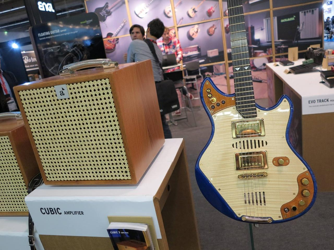 The 20:14 guitar was developed to occupy the hybrid space between electric and acoustic guitars