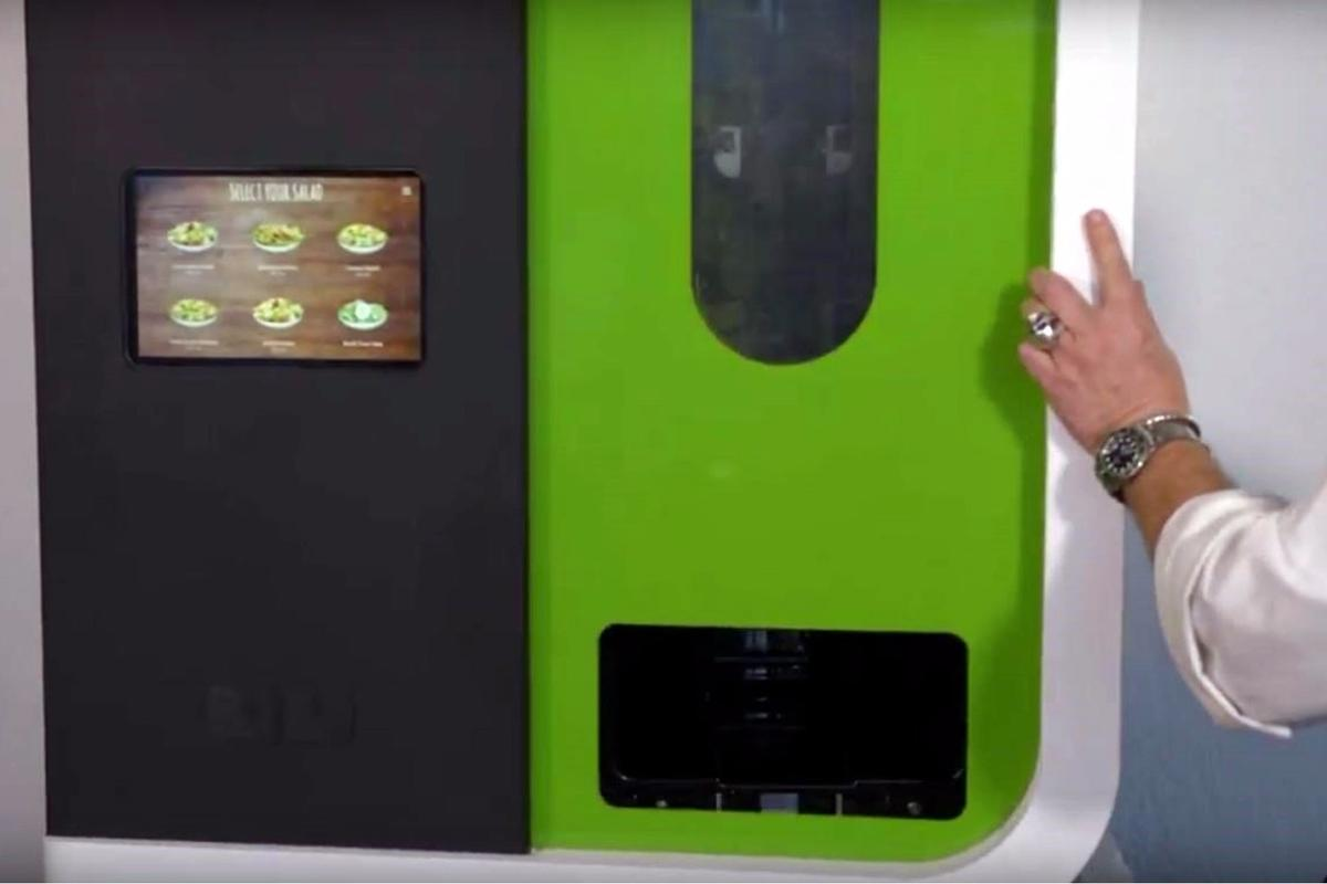 Sally the Salad Robot creates thousands of different salad combinations on demand