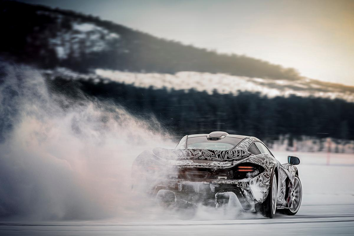 McLaren P1 undergoing extreme testing in Sweden