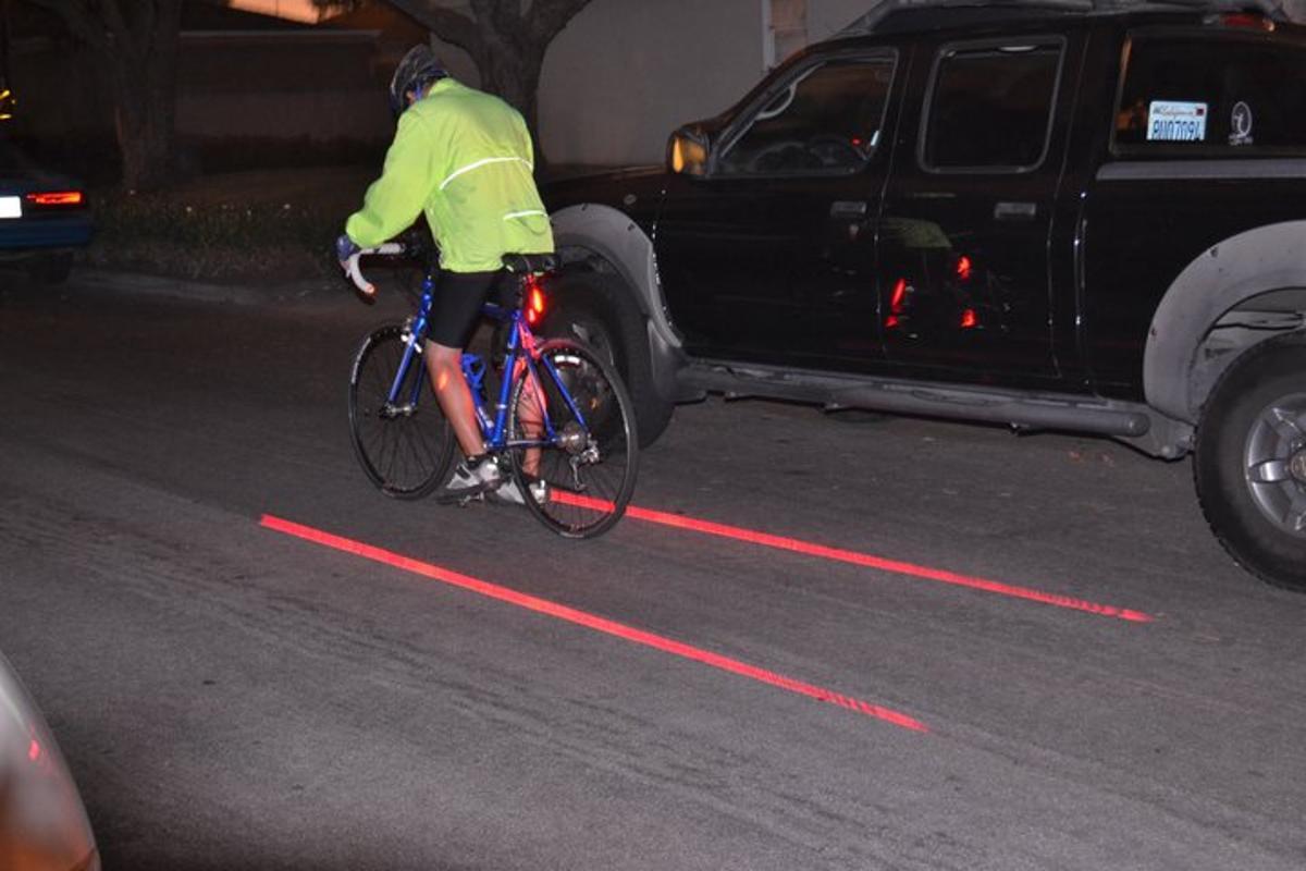 Xfire's Bike Lane Safety Light in use