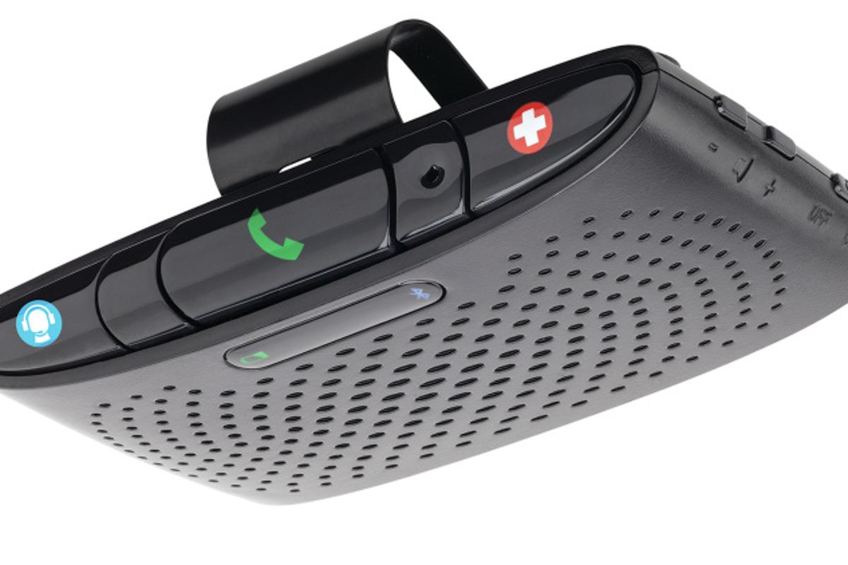 The Verizon Vehicle Bluetooth speaker, with its one-touch controls