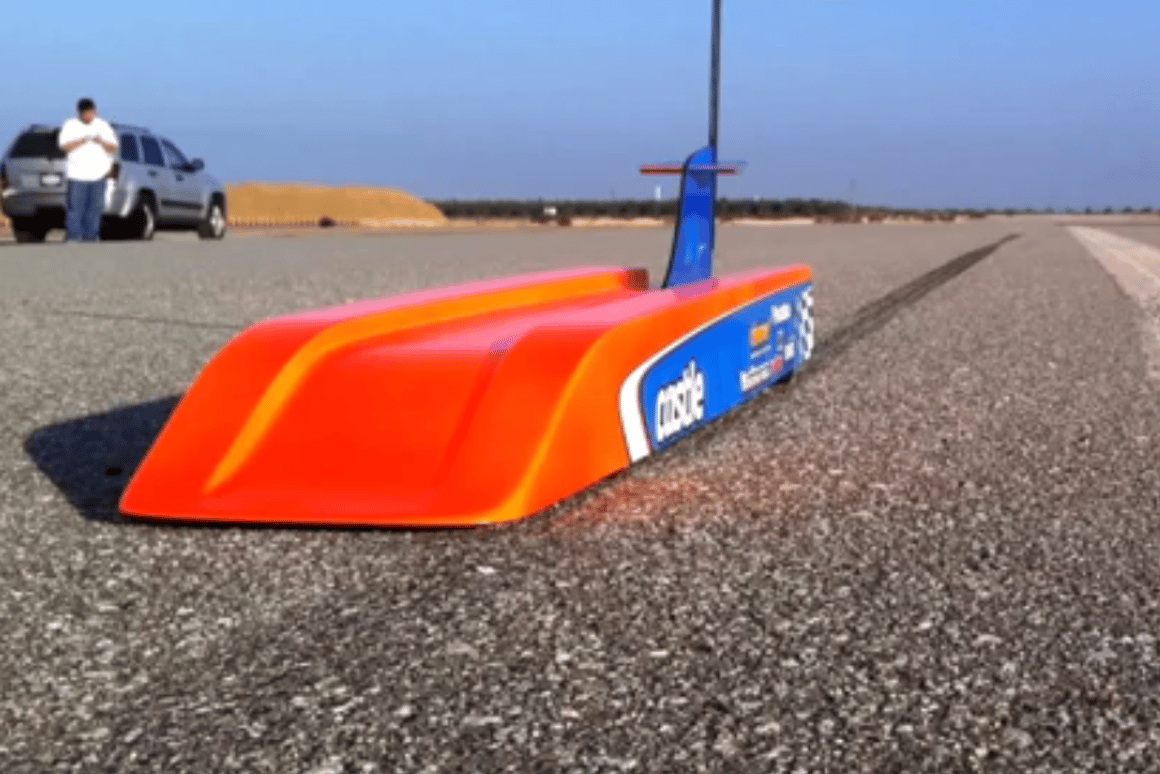 The R/C car that was able to hit 188.87 mph