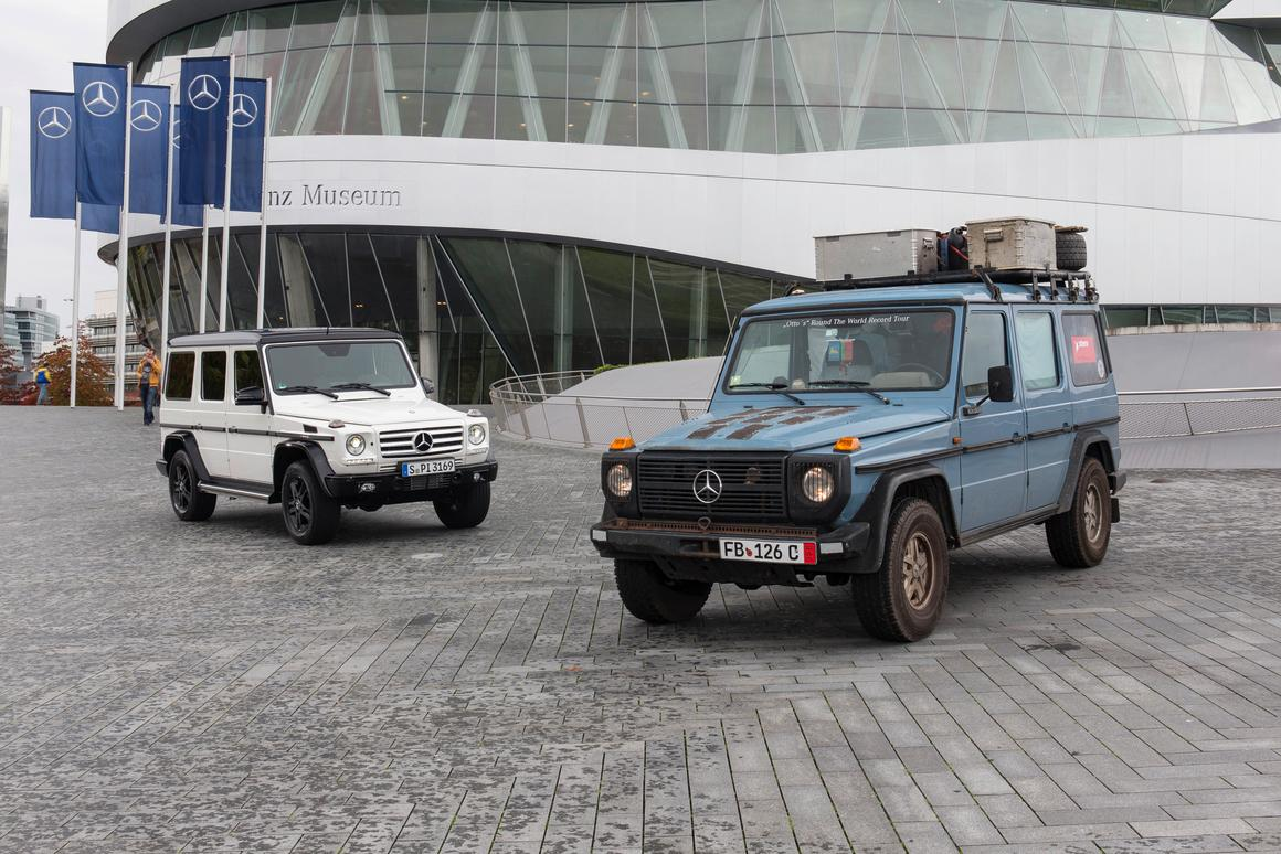 The G-Class Edition 35 with one of its older siblings