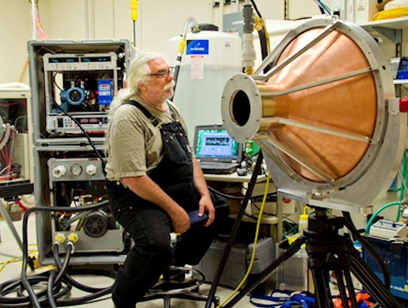 See how large and immobile a calorimetry-based 100 kW laser power meter is currently (Photo: NIST)