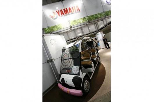 Yamaha's methane powered golf cart