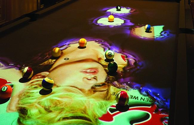 The CueLight Interactive Pool Table System's Reveal mode