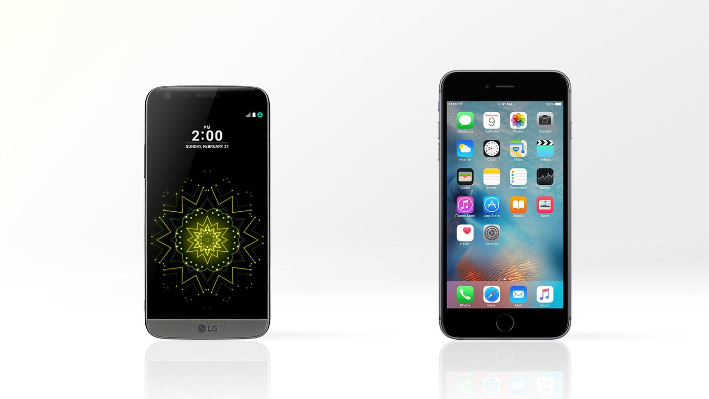 How does the LG G5 compare against the iPhone 6s Plus? We've got all the key specs you need to consider