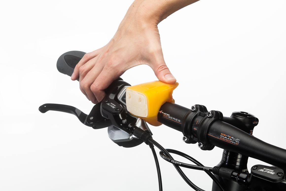 The ORP Smart Horn combines two-tone bike horn with 87 lumens LED twin lights