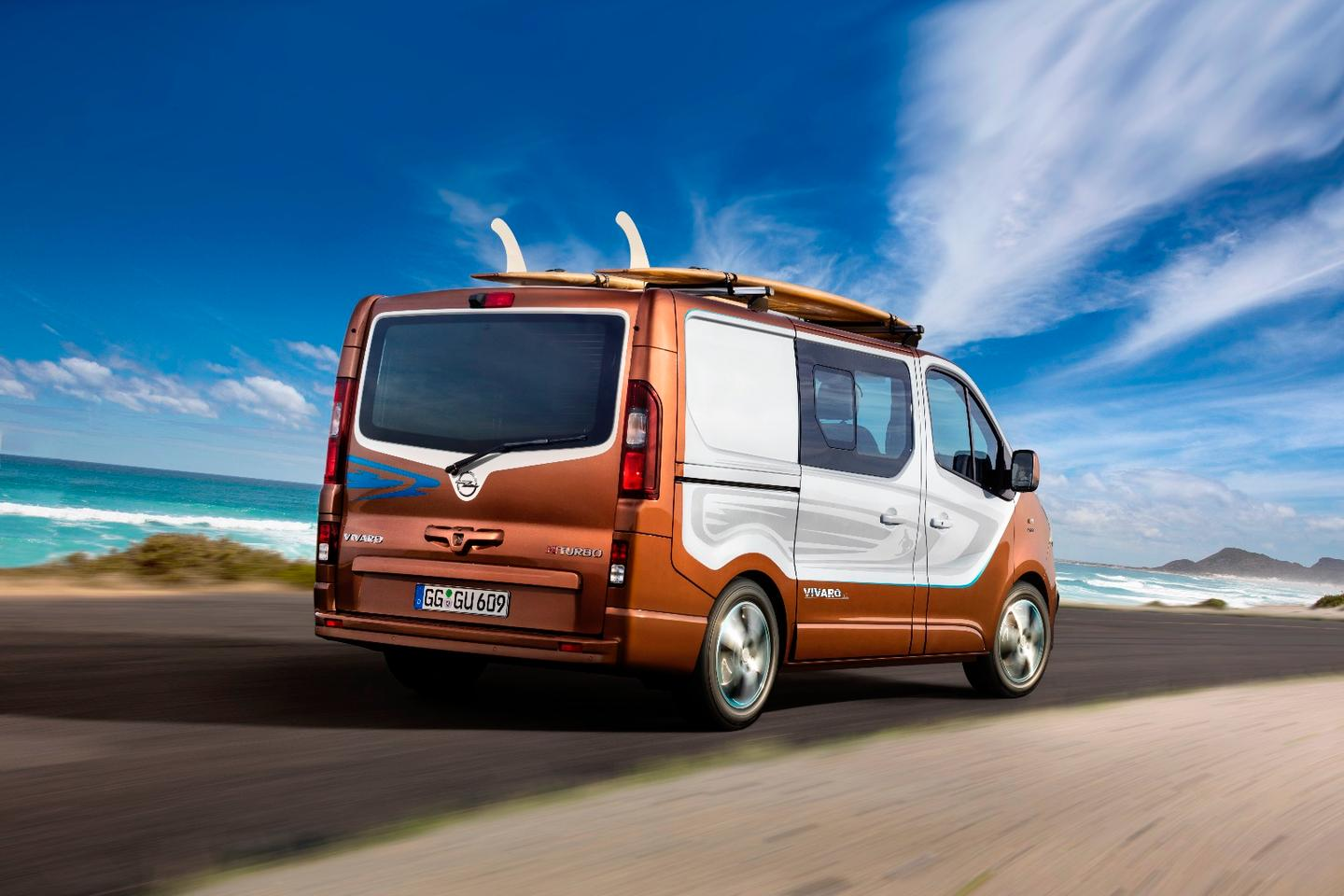 The Vivaro Surf has a board rack up top