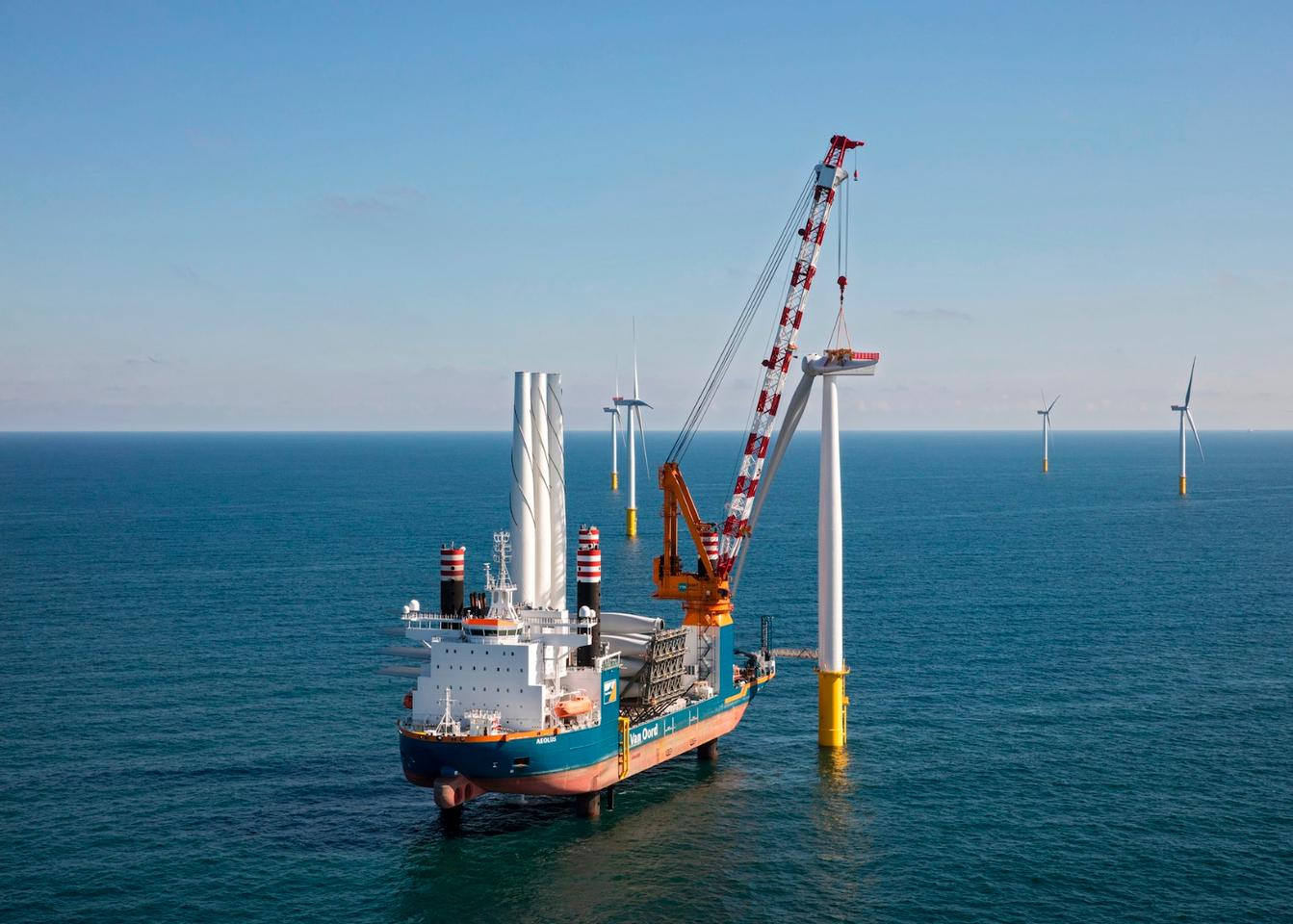 The Gemini wind farm took about two years to build, with Van Oord and Siemens contracted to perform most of the construction