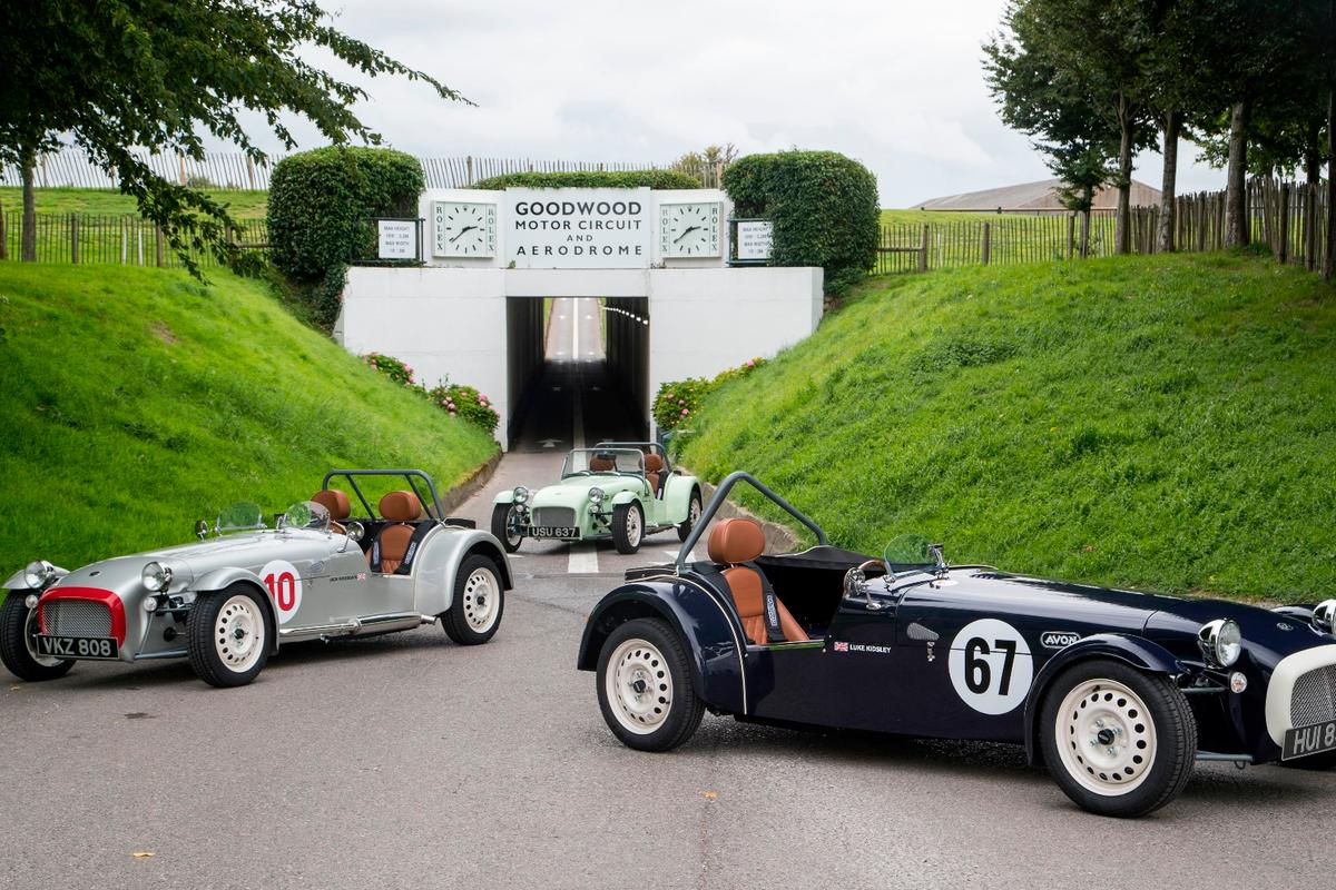 A trio of classic-liveried SuperSprints on show at Goodwood