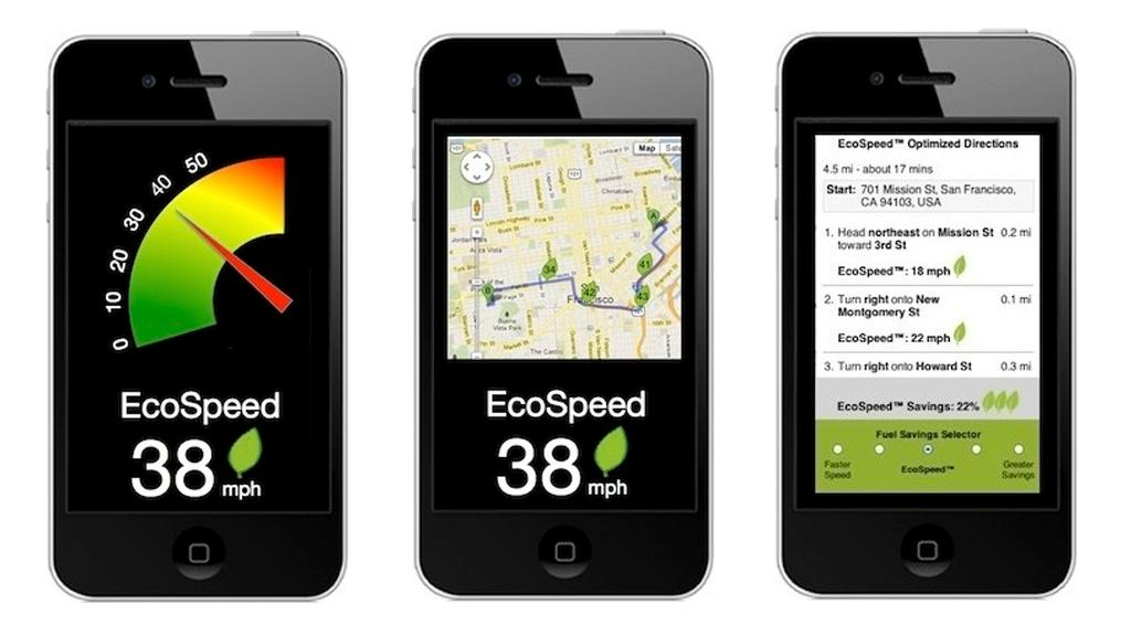 The EcoSpeed app takes into account various factors, such as the number of traffic stops, speed limits and local traffic conditions, to plot the most fuel-efficient route