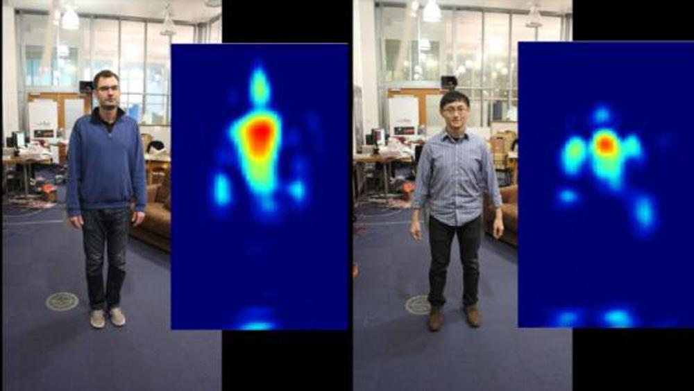 RF Capture is able to distinguish between people by using Wi-Fi signals to create 'silhouette fingeprints' for every individual
