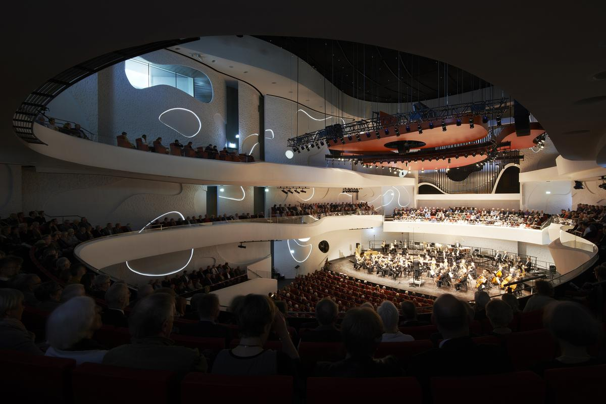 The House of Music features a U-shaped rehearsal and training room, and a concert hall with a capacity of around 1,300 visitors (Photo: Martin Schubert)