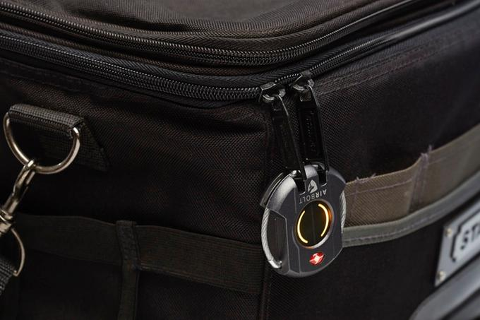 Although the AirBolt smart travel lock offers keyless access, users can manually open it through a backup button code