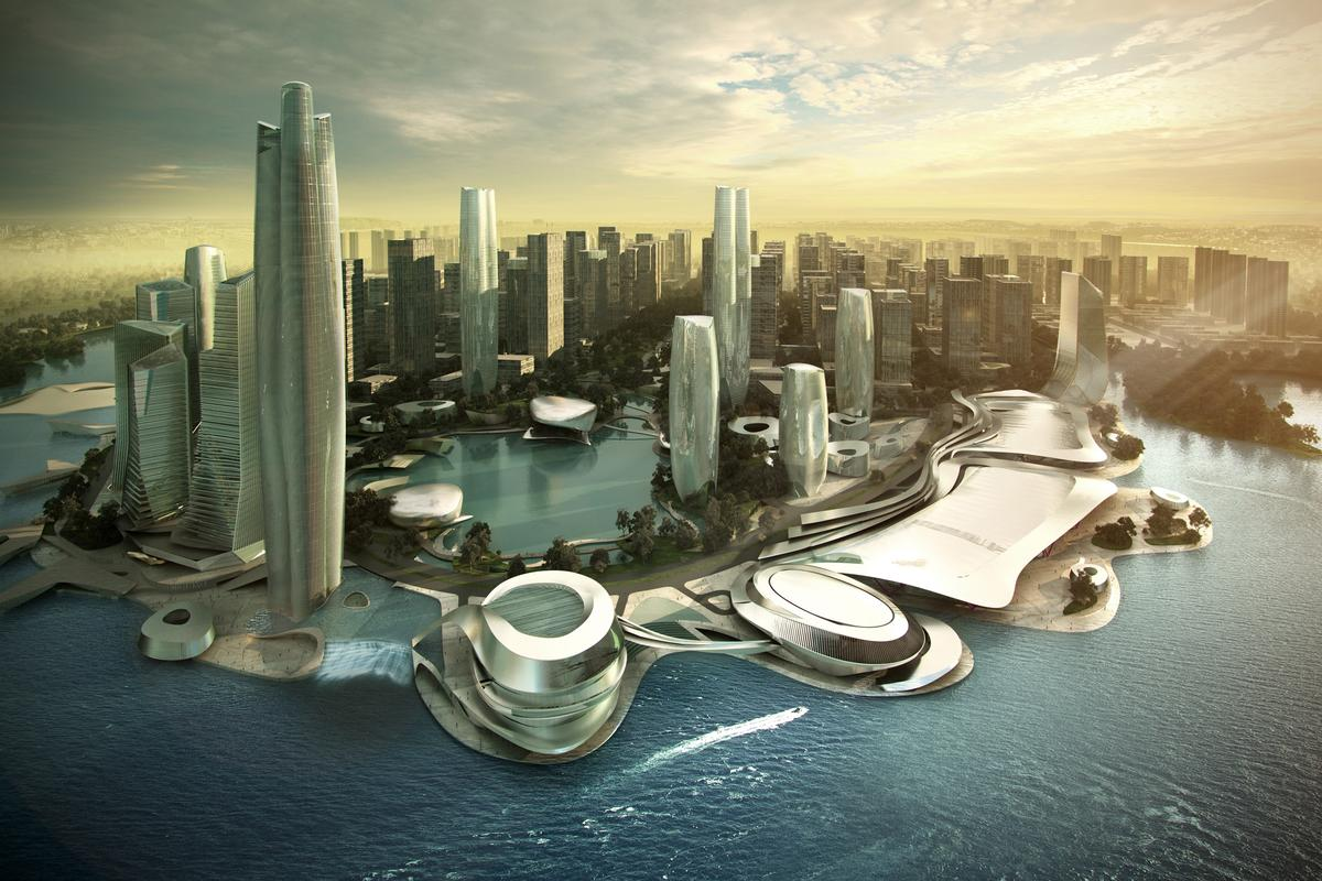Pingtan is planned to be transformed into a new commercial hub between China and Taiwan (image: 10 Design)