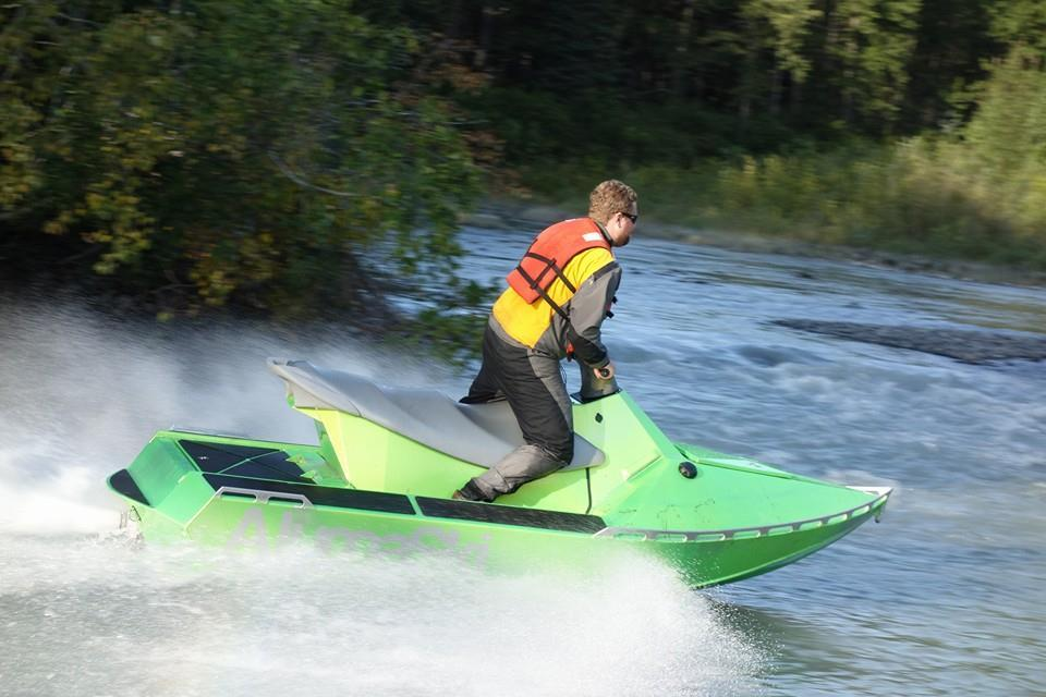 The AlumaSki is intended for recreational use, along with rescue and defense applications