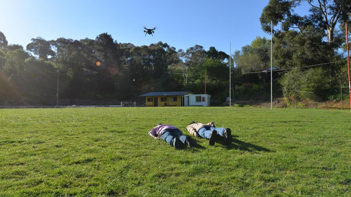 For the study, a quadcopter-mounted GoPro Hero camera was used to image live volunteers along with a mannequin
