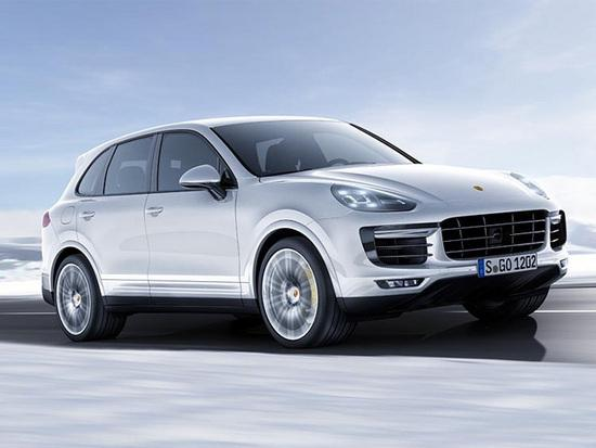 The Porsche Cayenne Turbo S made its world premiere at the 2015 North American International Auto Show in Detroit