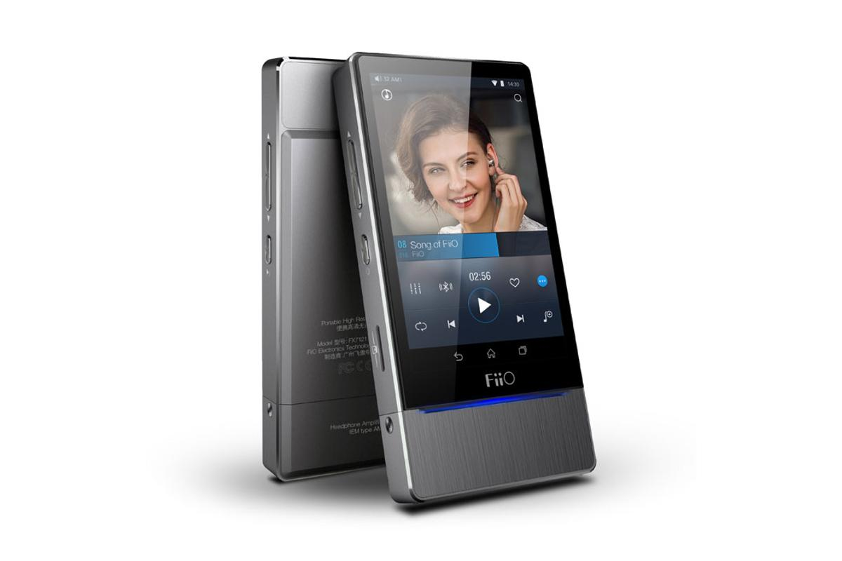 The X7 is Fiio's first digital audio player to run Android, its first with a touchscreen display and also allows users to swap out the amp module at the bottom