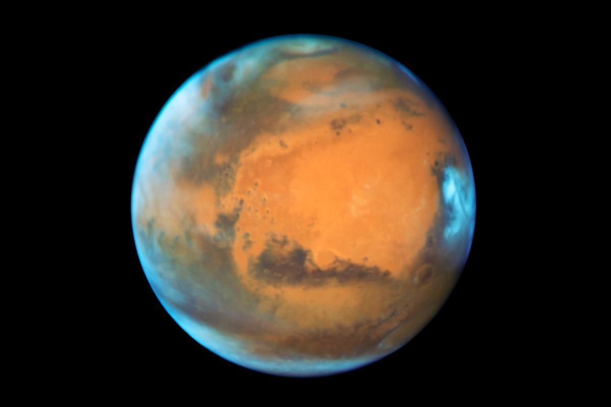 Portrait of Mars captured by the Hubble Space Telescope