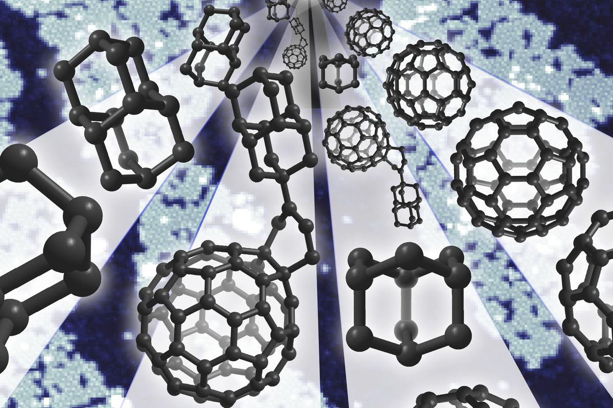 "Molecule-sized ""buckydiamondoids"" have been created that exhibit similar electrical properties to a simple rectifier diode (Image: Manoharan Lab/Stanford University)"
