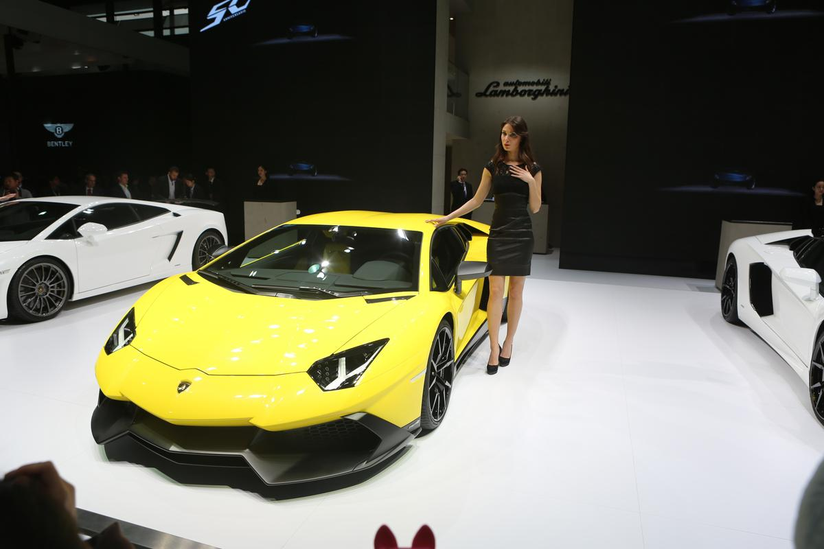 Aventador LP 720-4 50° Anniversario, shown at the Shanghi Auto Show