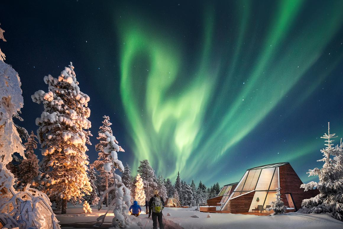 Snowman World Glass Resort, located in Rovaniemi, Lapland, Finland provide an ideal spot to catch the aurora borealis