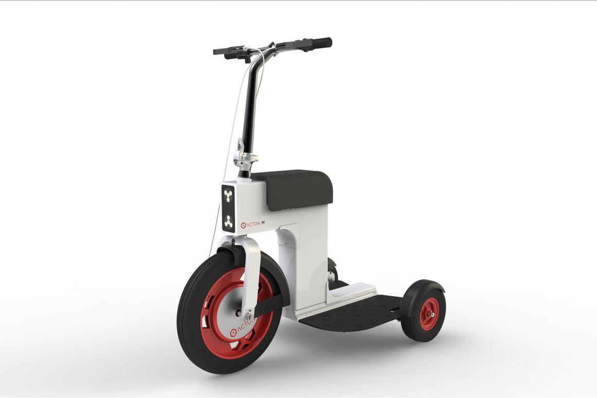 Following the success of it spnKiX motorized skates, Acton, Inc. recently revealed a new electric motorbike called the M Scooter, which the company claims can fold up into about half its size for easier storage