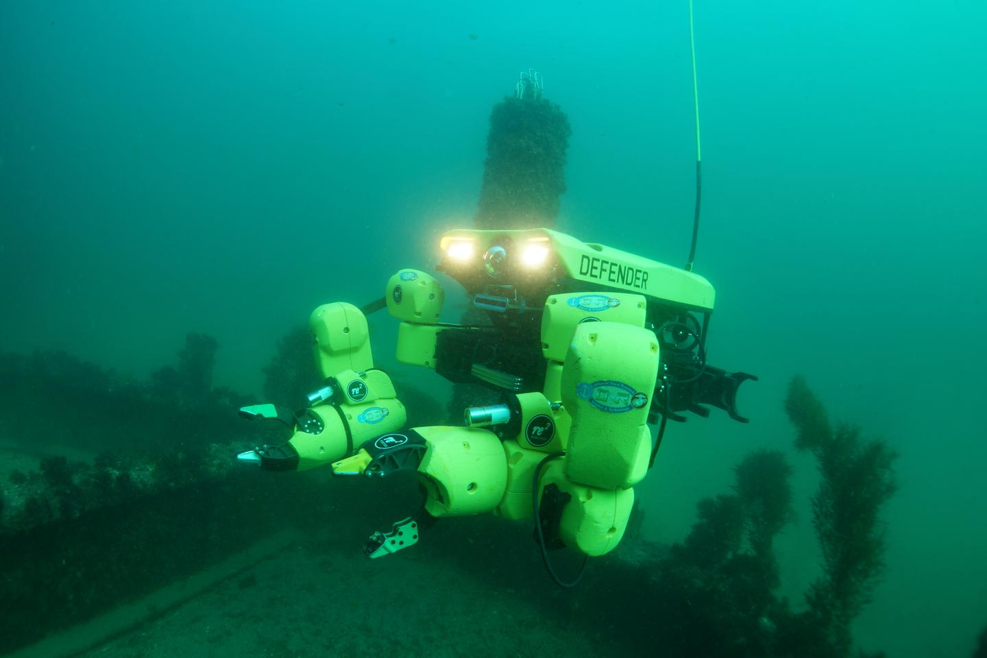 The Maritime Mine Neutralization System (M2NS) will incorporate of a pair of RE2 Robotics' Sapien Sea Class robotic arms mounted on a VideoRay Defender ROV