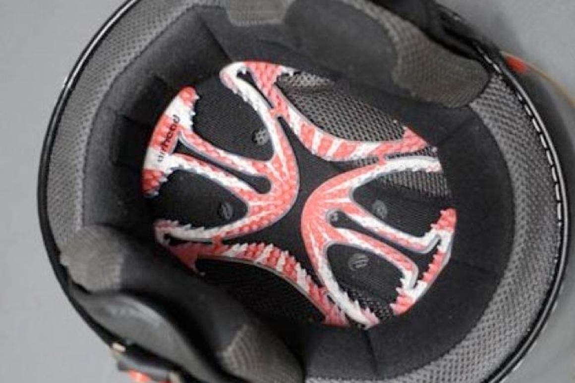 Airhead insert increases helmet ventilation, eliminates