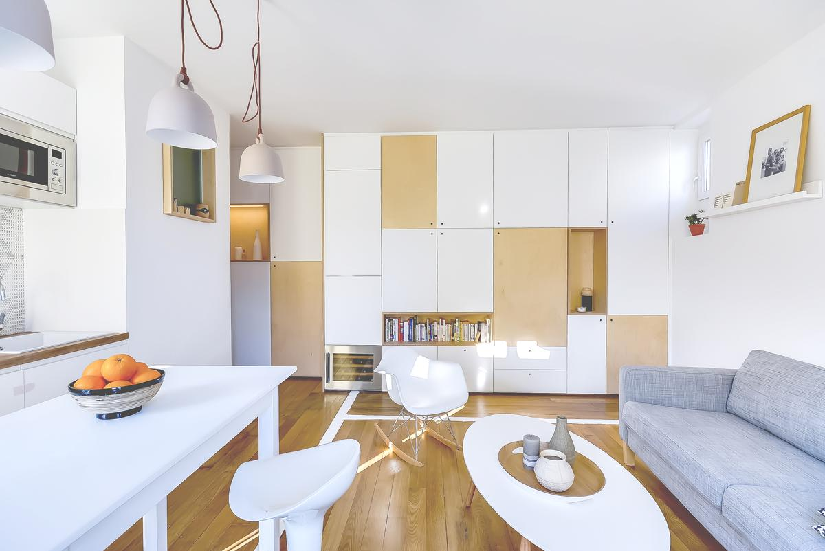 30m2 Flat in Paris, by Richard Guilbault, was completed earlier this year (Photo: Meero)