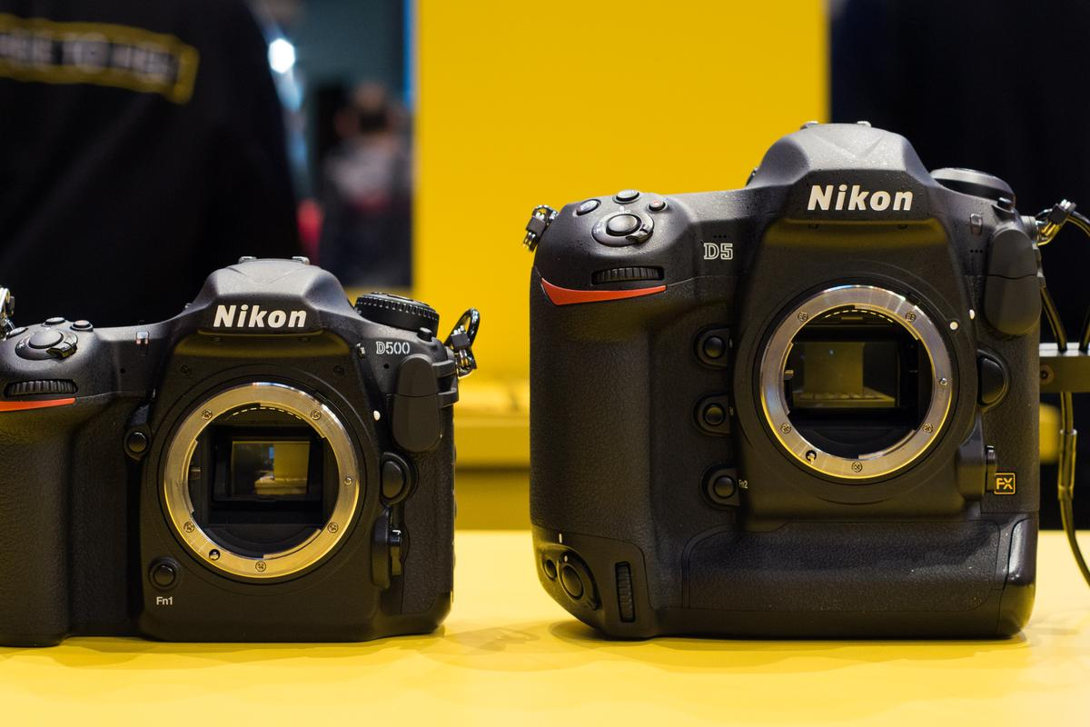 We go hands-on with Nikon's flagship D500 and D5 DSLRs