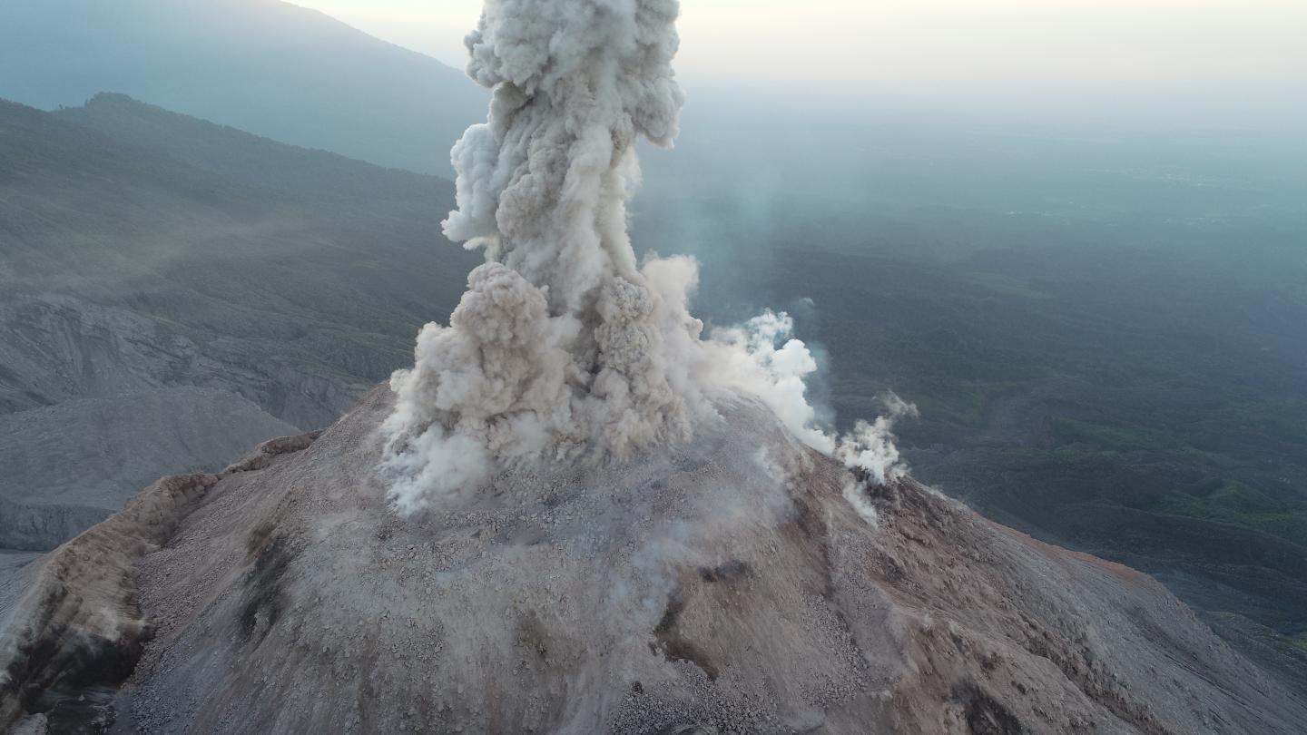 The Santa Maria volcano in Guatemala