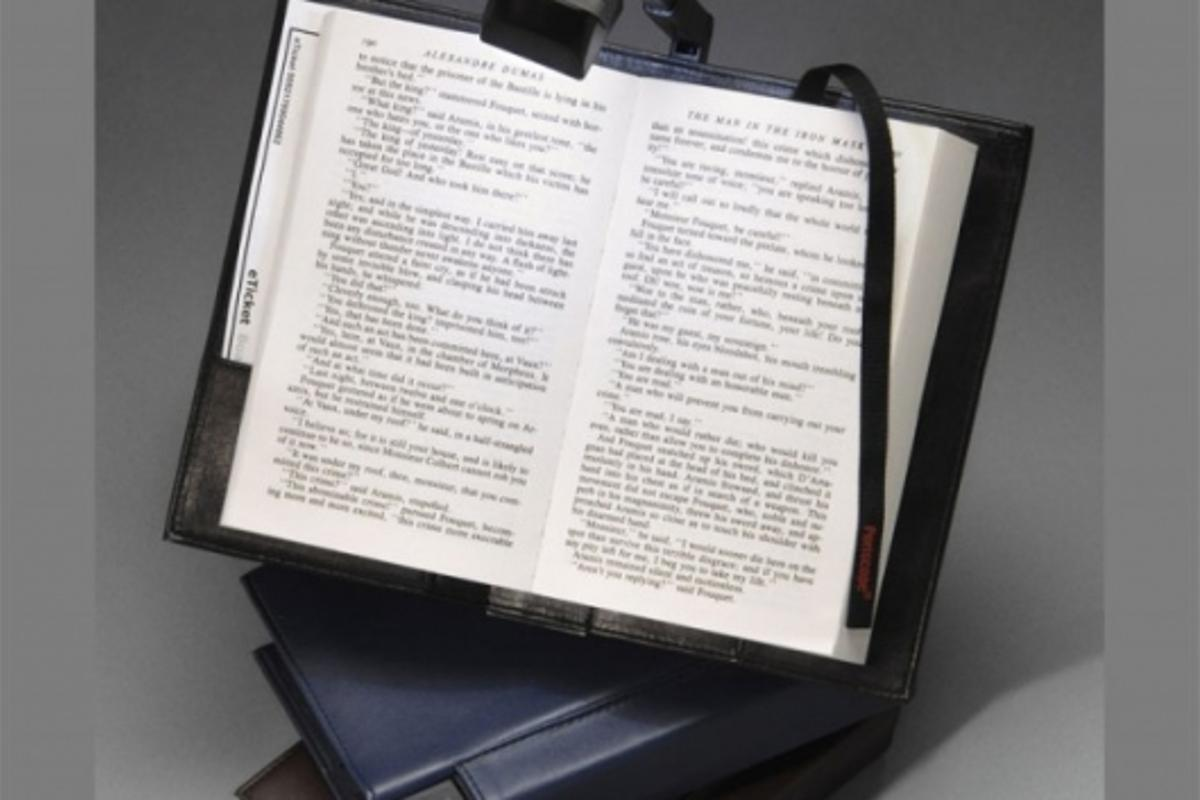 Periscope LED Book Light in a Bookcover