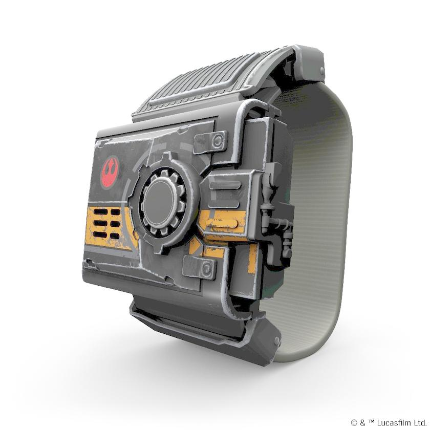 The Force Band has an accelerometer and gyroscope built in, which send instructions to the droid