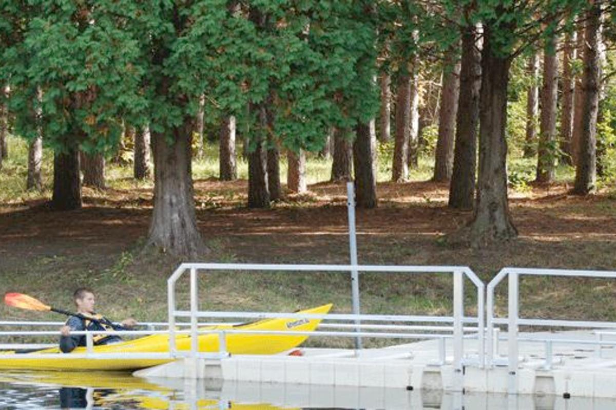 The EZ Launch canoe and kayak ramp system