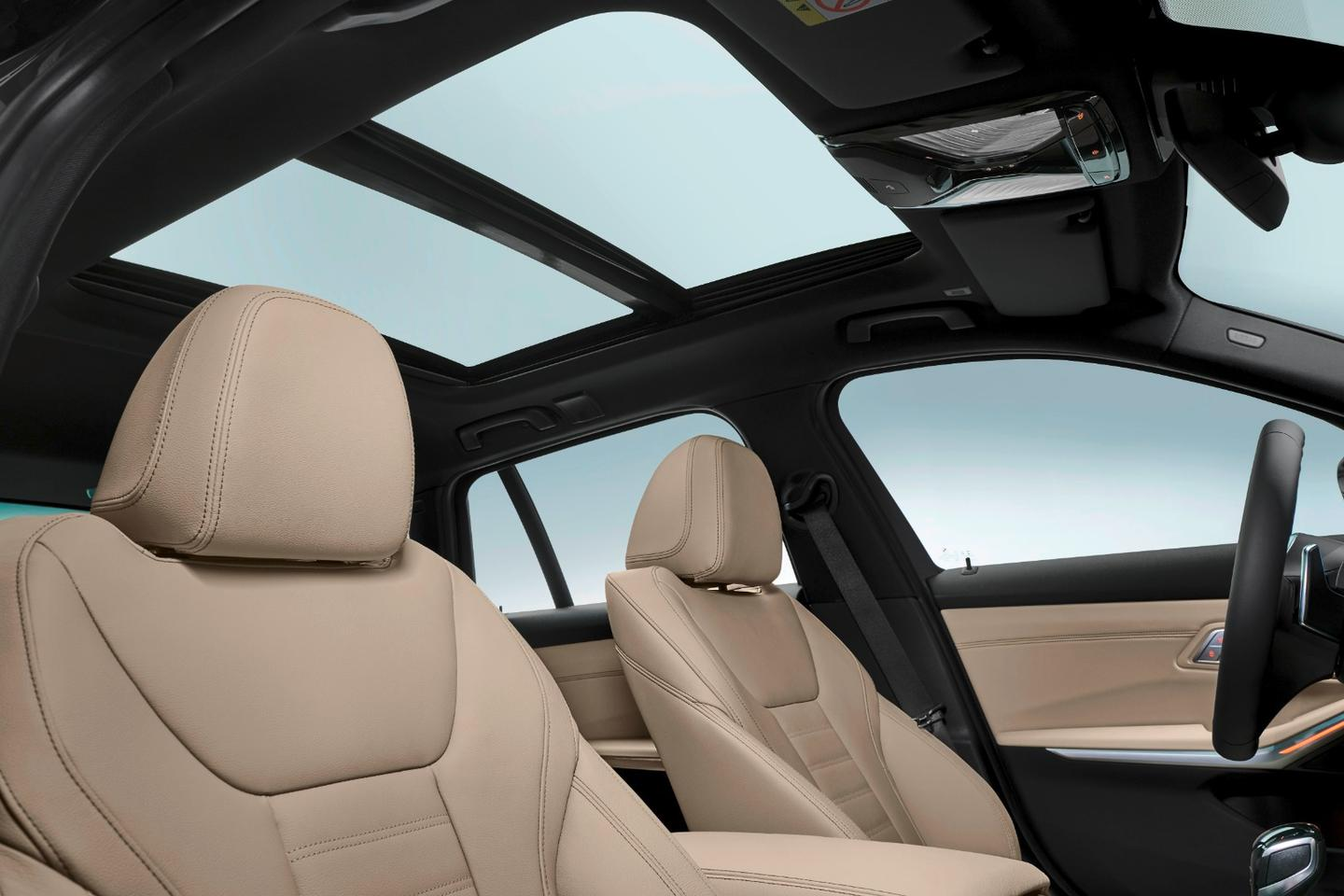 A dual-pane panoramic roof is offered in the new 3 Series Touring model