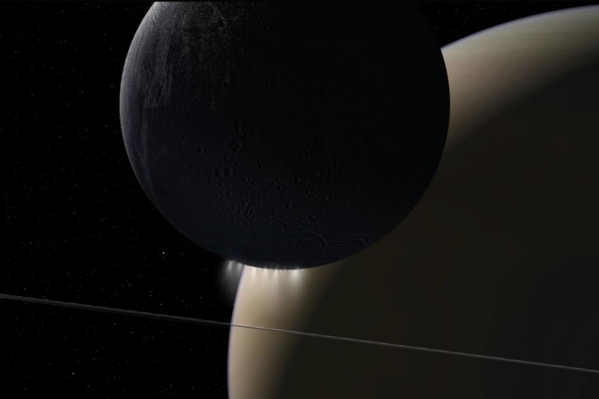 NASA's Cassini spacecraft's Grand Finale orbits found a powerful interaction of plasma waves moving from Saturn to its rings and its moon Enceladus