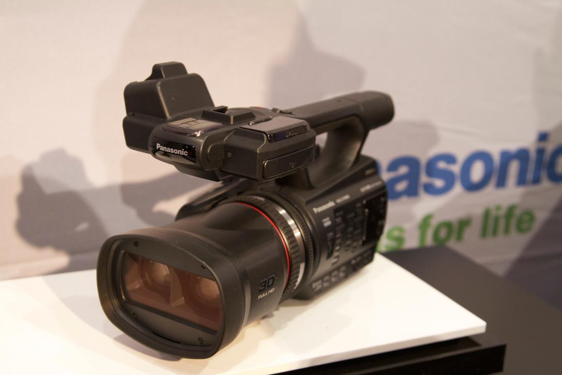 Panasonic has now released its twin-lens 2D/3D camcorder - the HDC-Z10000